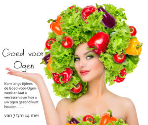 Beauty girl with Vegetables hair style. Beautiful happy young woman with vegetables on her head. Hea